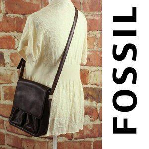 FOSSIL 1954 Vintage Crossbody Bag Pebbled Leather